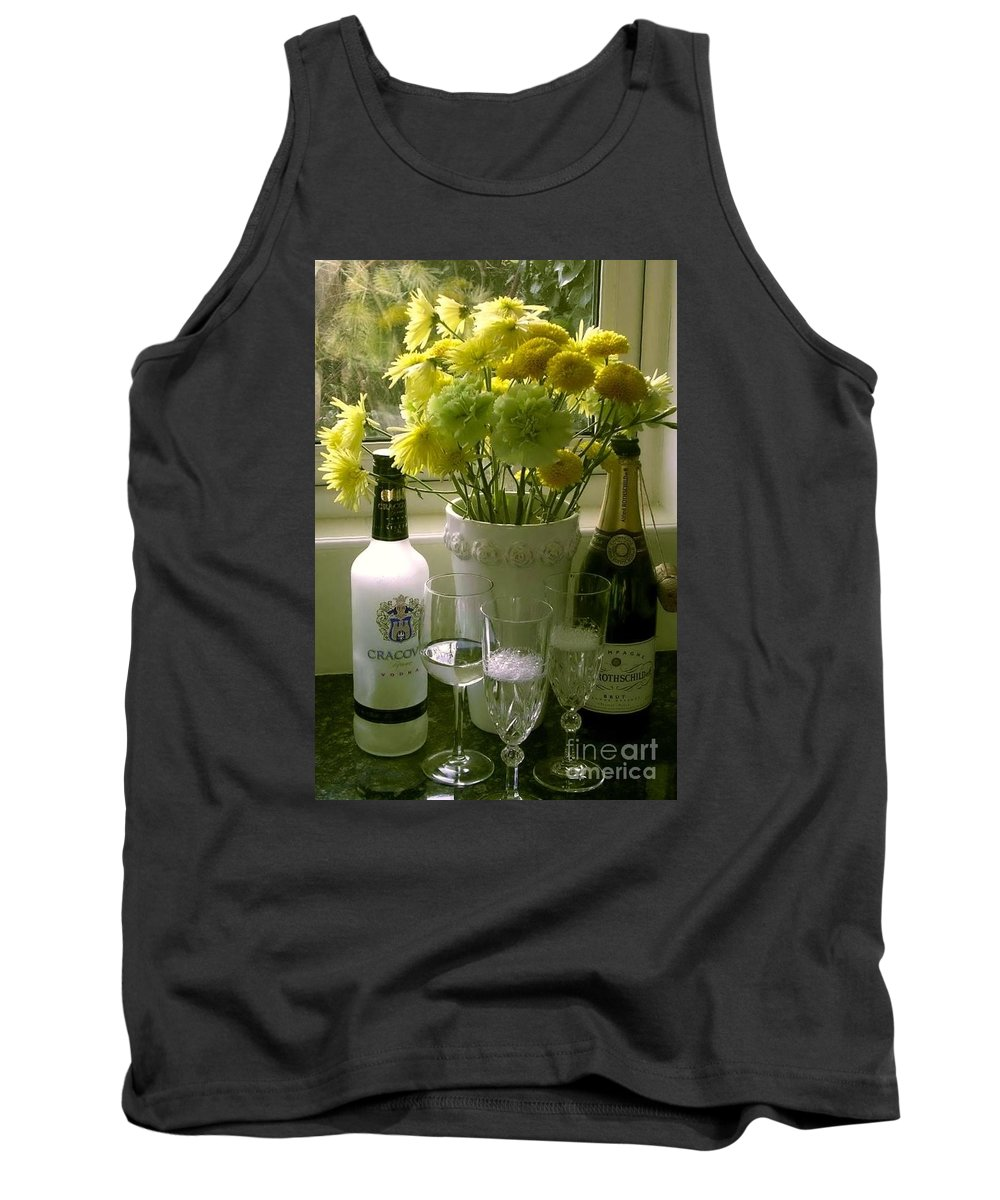 Champagne Tank Top featuring the photograph Cheers For The New Year by Joan-Violet Stretch