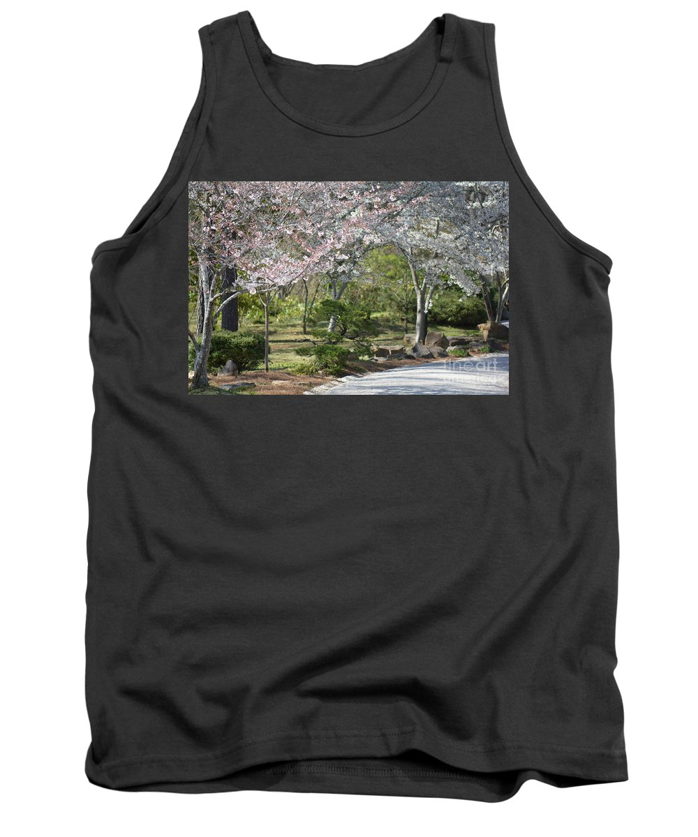 Flowers Tank Top featuring the photograph Cherry Lane Series Picture A by Barb Dalton