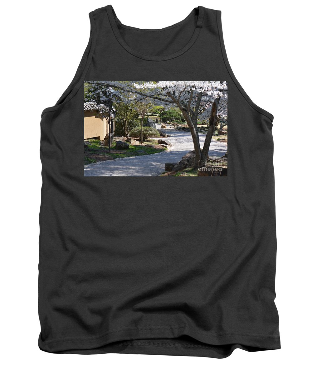 Flowers Tank Top featuring the photograph Cherry Lane Series Picture C by Barb Dalton
