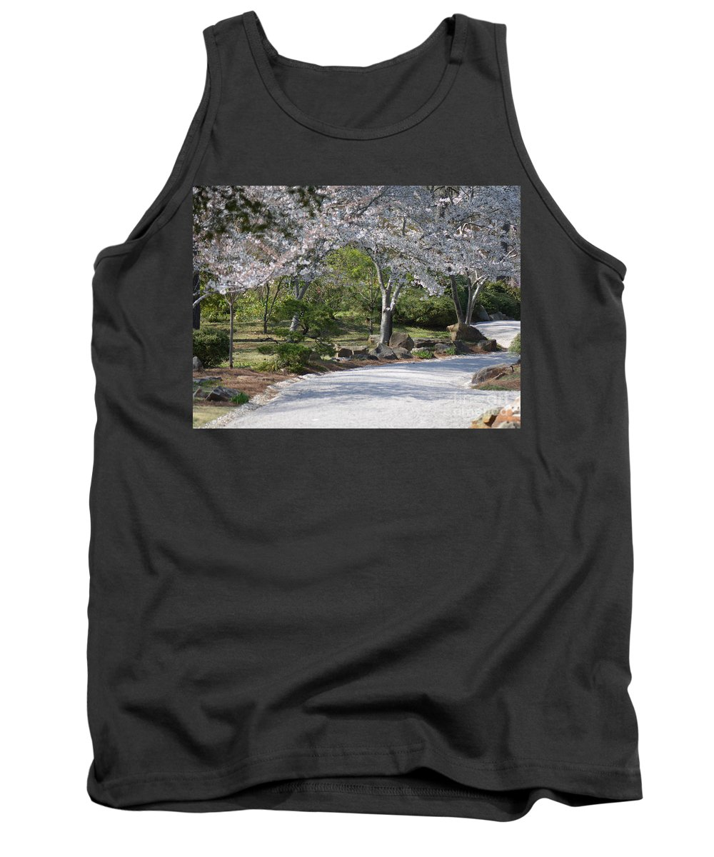 Flowers Tank Top featuring the photograph Cherry Lane Series Picture G by Barb Dalton
