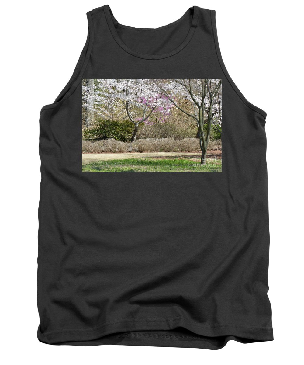 Flowers Tank Top featuring the photograph Cherry Lane Series Picture I by Barb Dalton