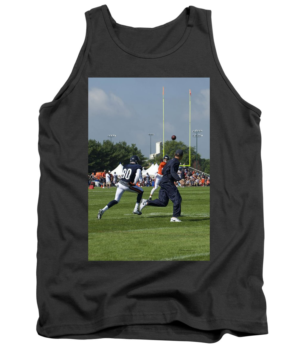 Chicago Bears Tank Top featuring the photograph Chicago Bears Hc Marc Trestman Training Camp 2014 02 by Thomas Woolworth