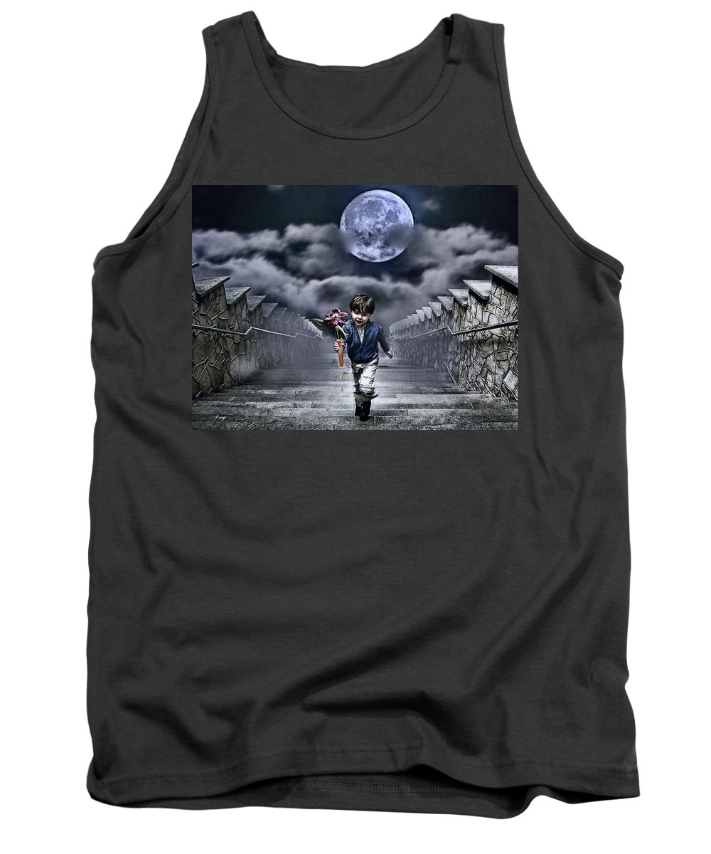 Boy Tank Top featuring the photograph Child Of The Moon by Joachim G Pinkawa