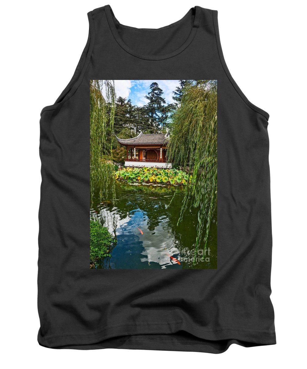 Chinese Garden Tank Top featuring the photograph Chinese Garden Dream by Jamie Pham