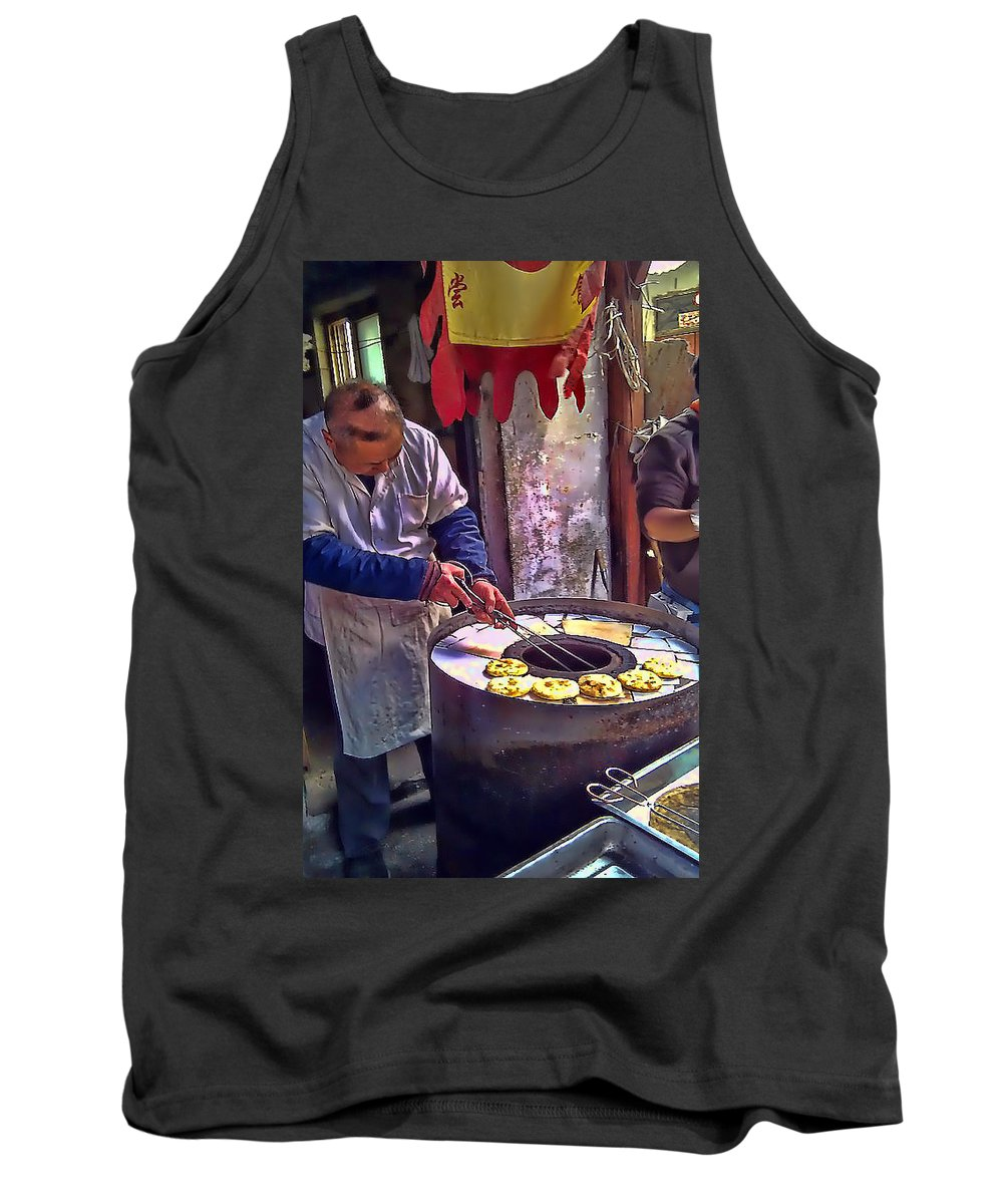 China Tank Top featuring the photograph Chinese Market 2 by Cathy Anderson