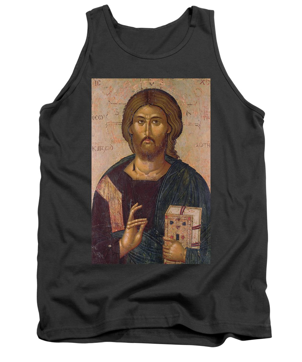 Christ The Redeemer Tank Top featuring the painting Christ The Redeemer by Byzantine School
