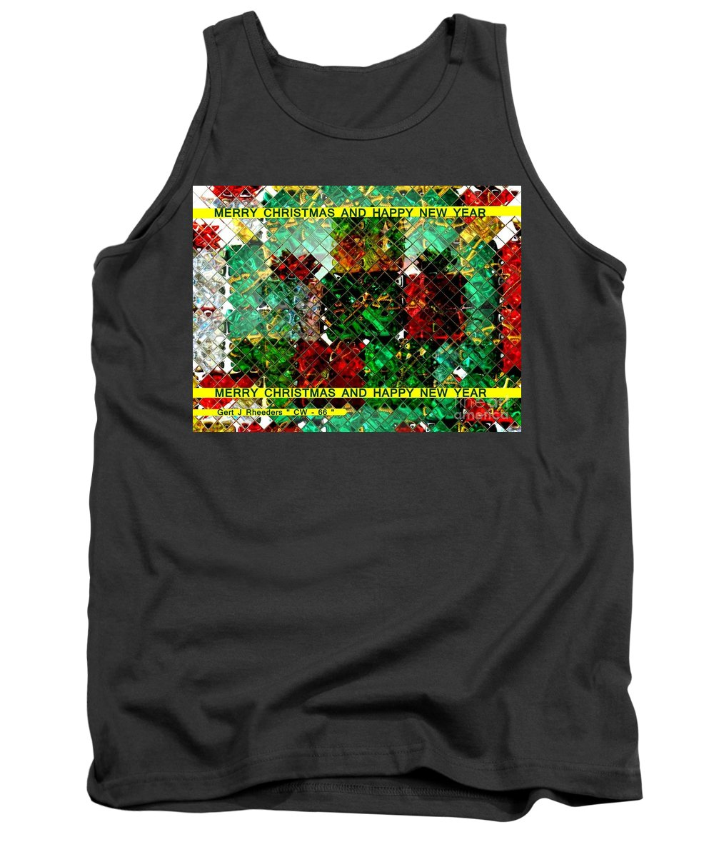 Modern Tank Top featuring the painting Christmas Cards And Artwork Christmas Wishes 66 by Gert J Rheeders