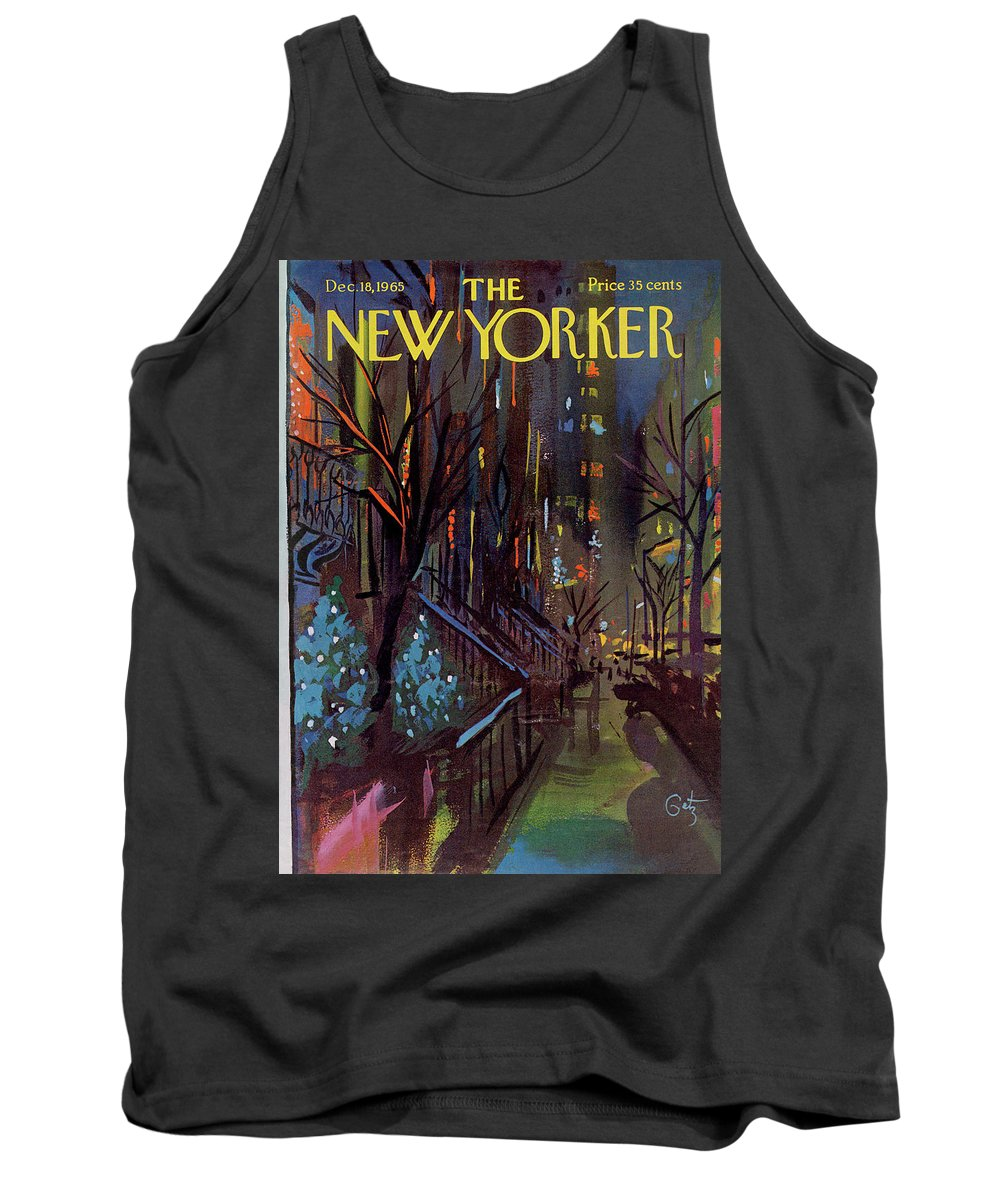 Christmas Tank Top featuring the painting Christmas In New York by Arthur Getz