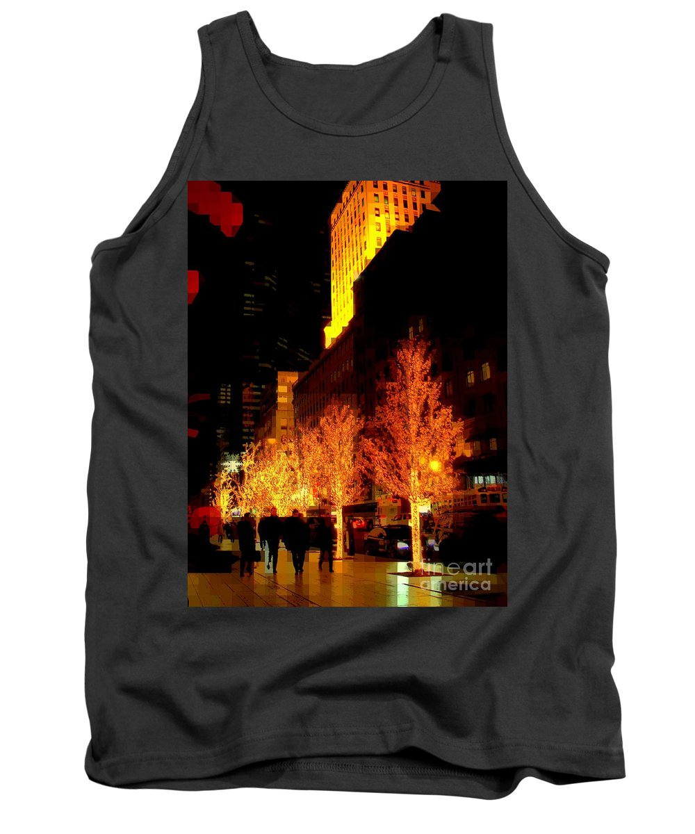 Abstract Tank Top featuring the photograph Christmas In New York - Trees And Star by Miriam Danar