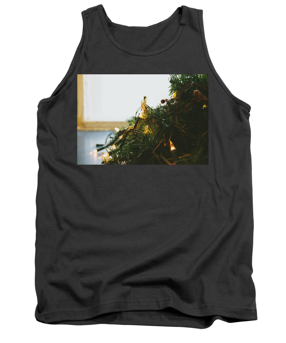 Decoration Tank Top featuring the photograph Christmas Lights by Pati Photography