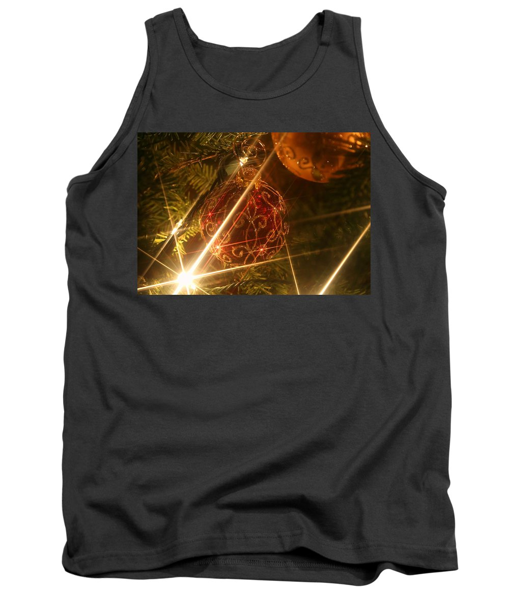 Christmas Ornaments Tank Top featuring the photograph Christmas Ornaments 1 by Ellen Henneke