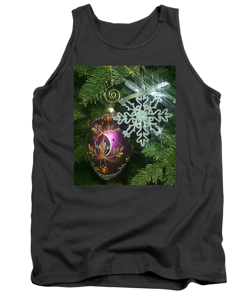 Christmas Ornaments Tank Top featuring the photograph Christmas Ornaments 2 by Ellen Henneke