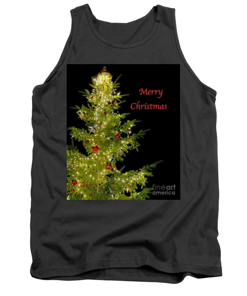 Christmas Tank Top featuring the photograph Christmas Tree Lighting by Jim And Emily Bush
