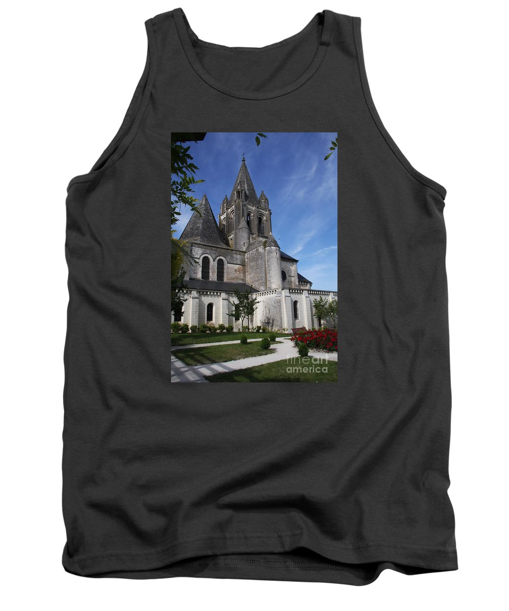 Church Tank Top featuring the photograph Church - Loches - France by Christiane Schulze Art And Photography