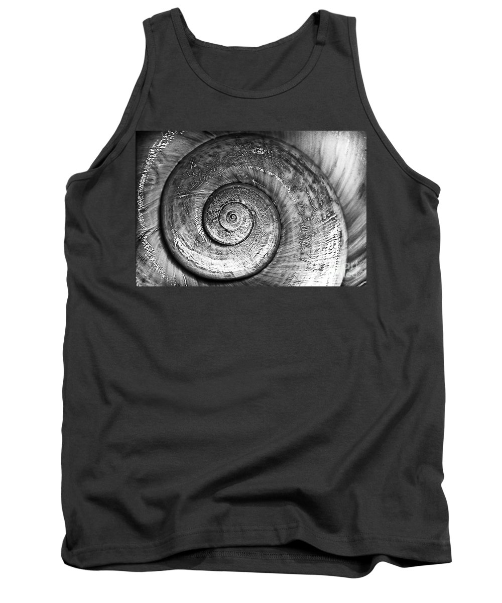 Circles Tank Top featuring the photograph Circles Bw by Bruce Bain