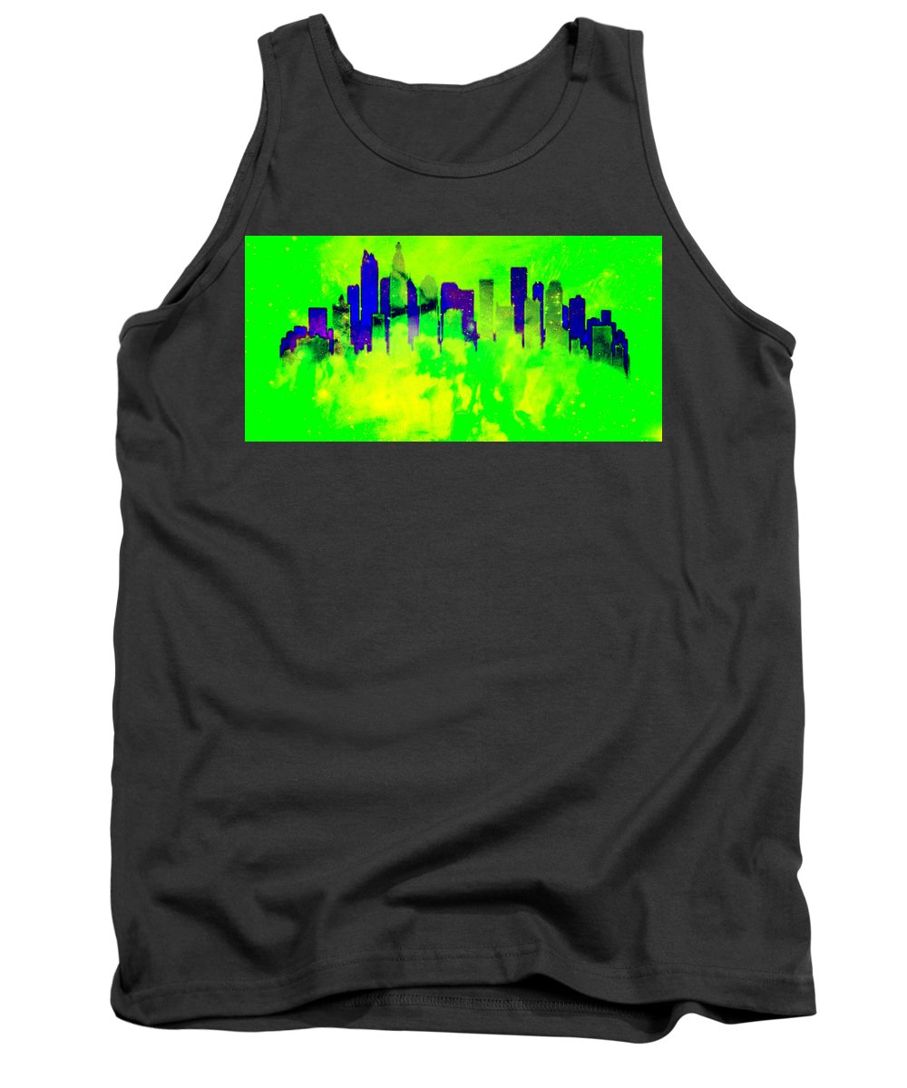 Skyline Tank Top featuring the digital art City Colors by Brian Reaves