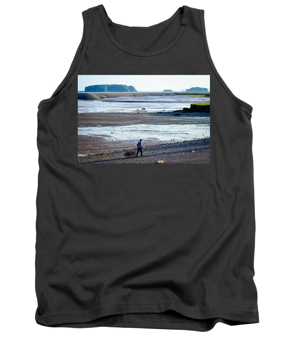 Canada Tank Top featuring the photograph Clam Digger With Wagon by Boss Photographic