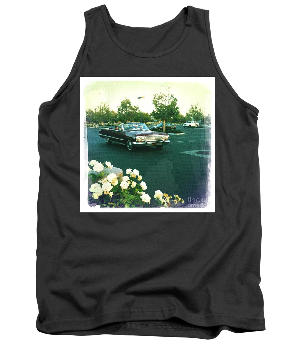 Classic Car Family Outing Tank Top featuring the photograph Classic Car Family Outing by Nina Prommer
