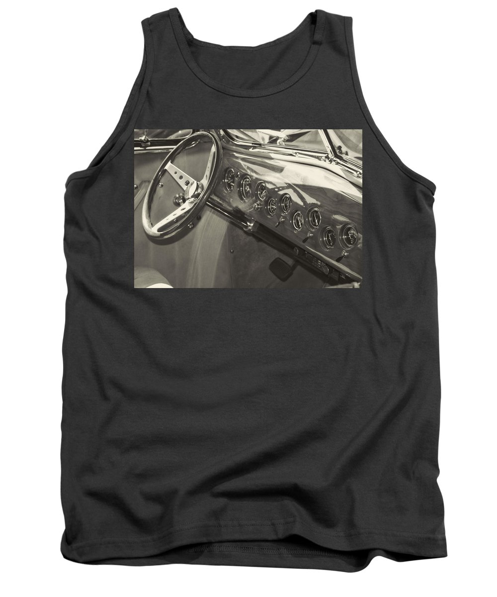 Tank Top featuring the photograph Classic Car Interior by Cathy Anderson