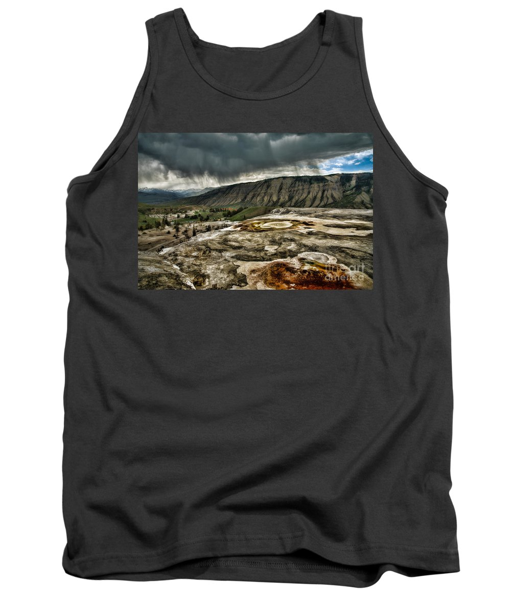 Black Tank Top featuring the photograph Cleansing Rain by Rich Priest