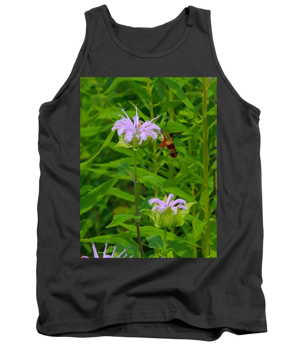 Nature Tank Top featuring the photograph Clear-winged Hummingbird Moth by Robert Storost