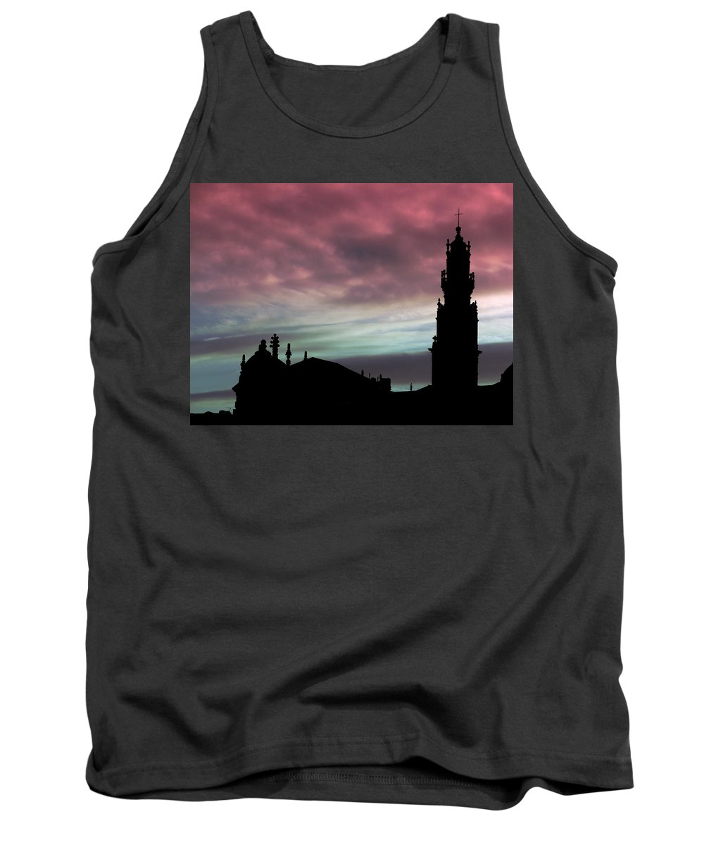 Clerigos Tank Top featuring the photograph Clerigos Tower Sunset by Lynn Bolt