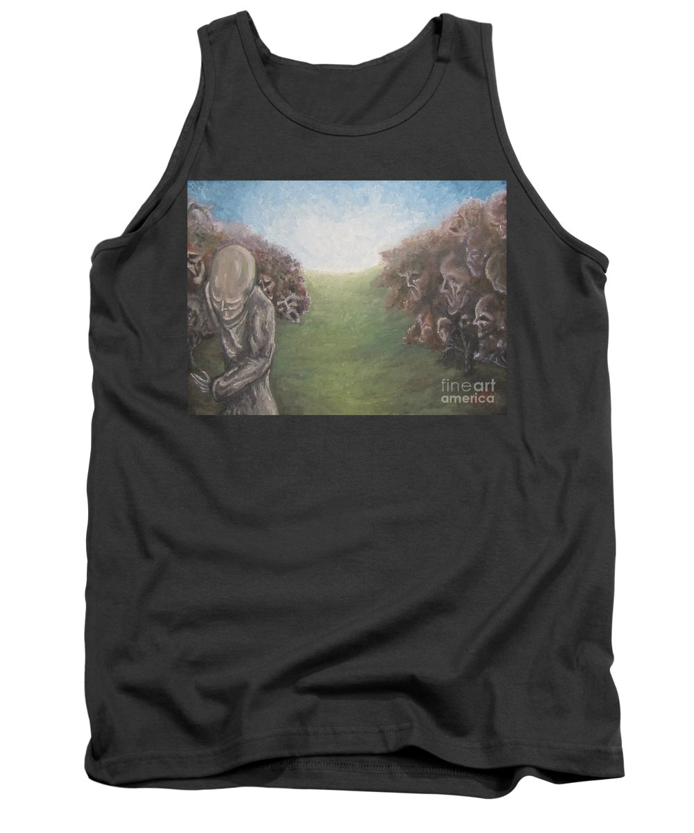 Tmad Tank Top featuring the painting Closure by Michael TMAD Finney