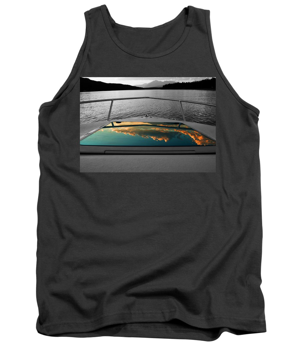Boating Tank Top featuring the photograph Cloudy Reflection by Anita Braconnier