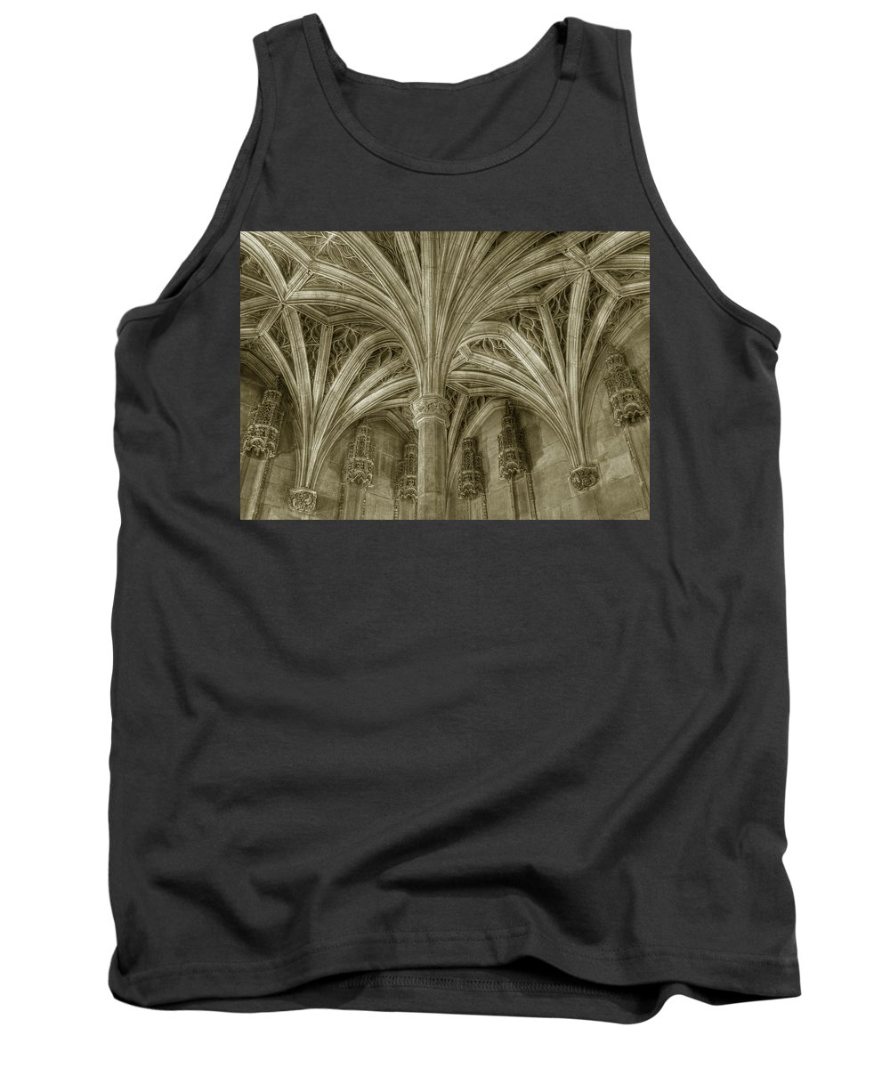 Architecture Paris Cluny Tank Top featuring the photograph Cluny Museum Ceiling Detail by Michael Kirk