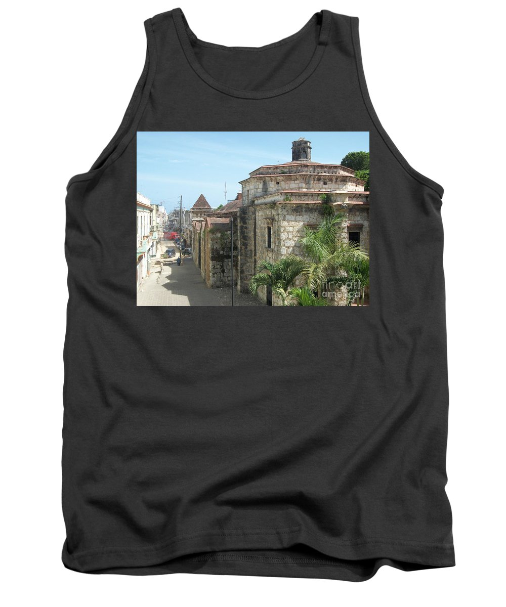Santo Domingo Tank Top featuring the photograph Coca Cola And The Catedral Number Two by Heather Kirk