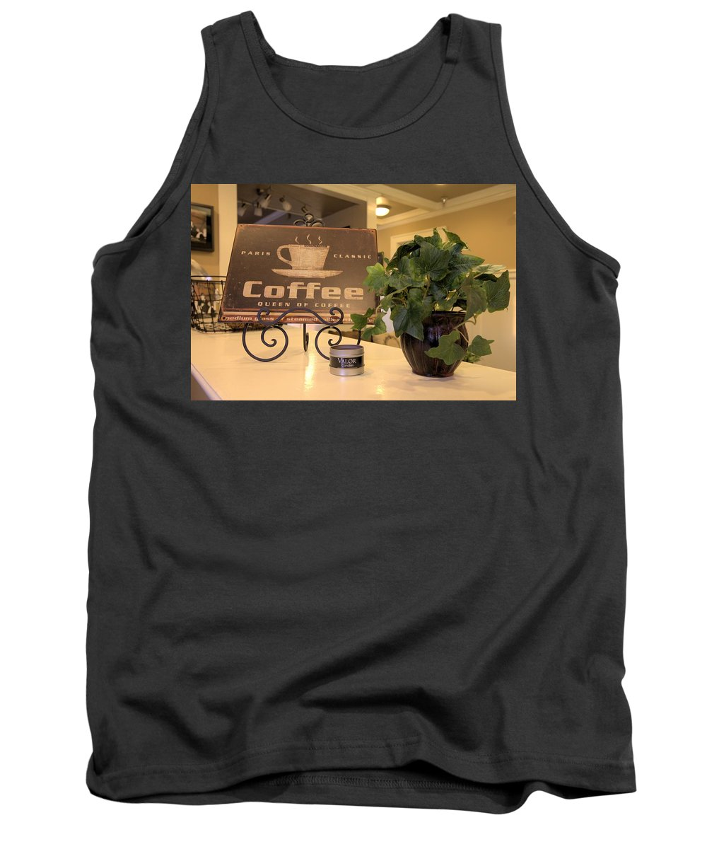 5617 Tank Top featuring the photograph Coffee by Gordon Elwell