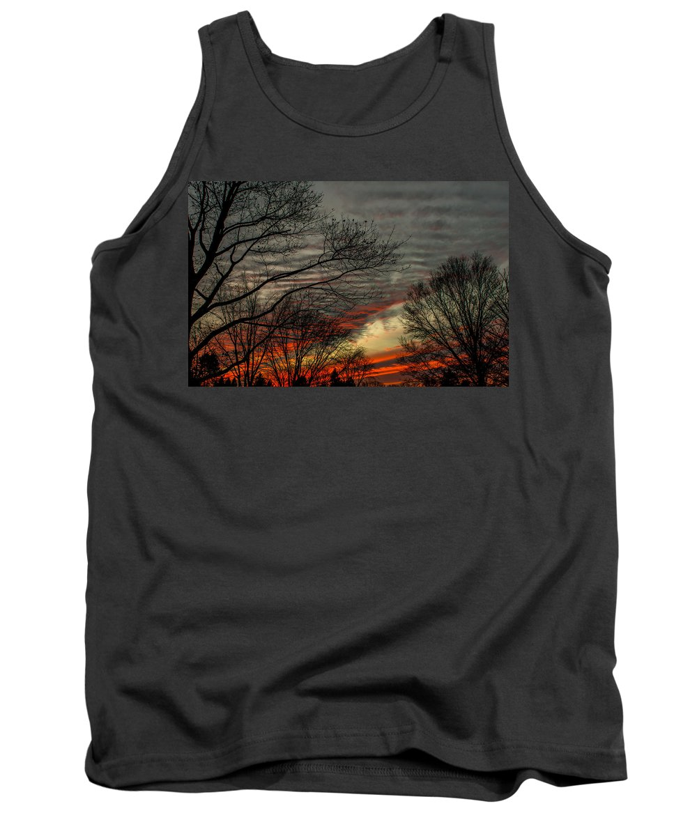 Sunset Tank Top featuring the photograph Cold Front Sunset by Scott Hafer