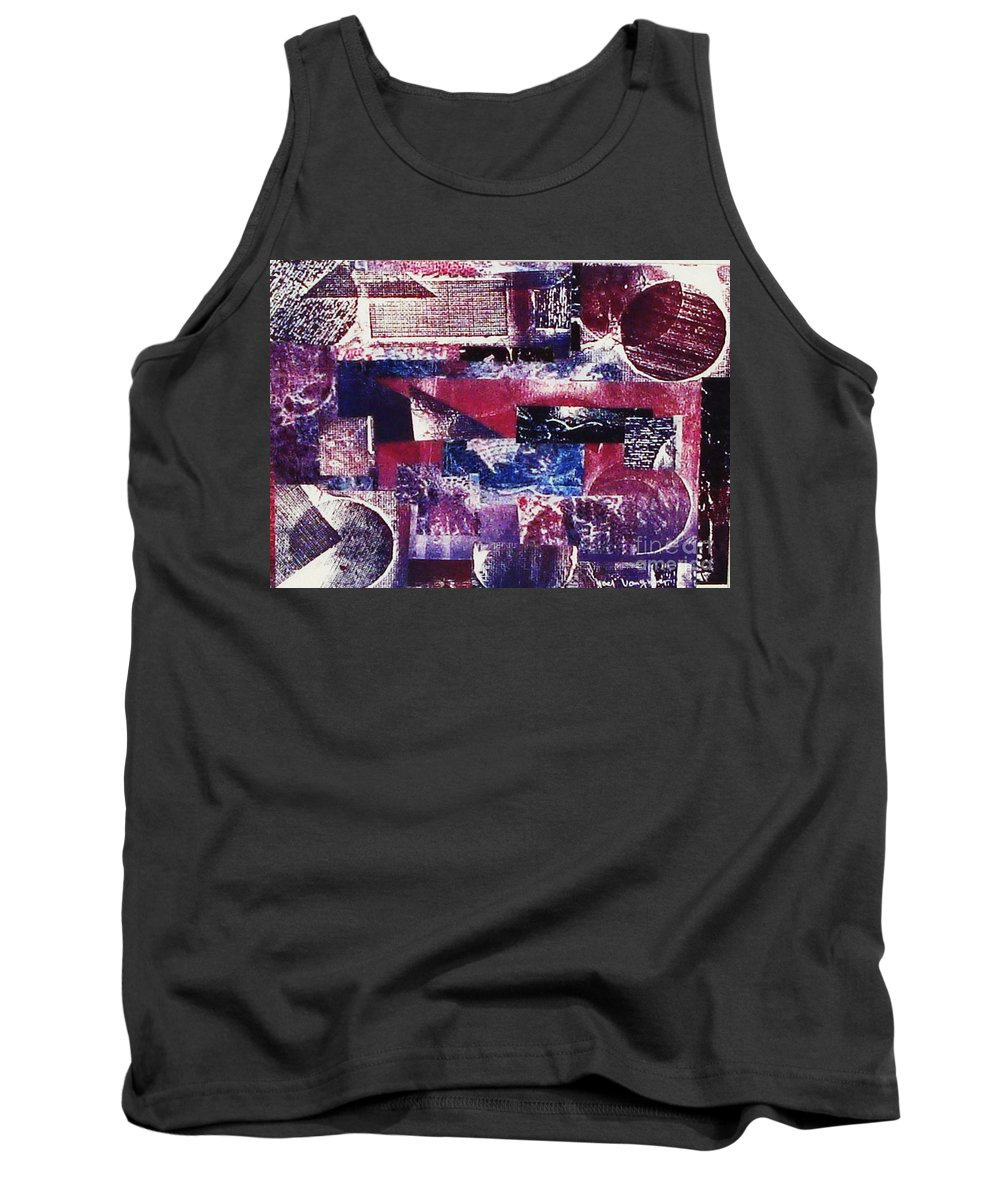 Print Making Tank Top featuring the relief Collage by Yael VanGruber