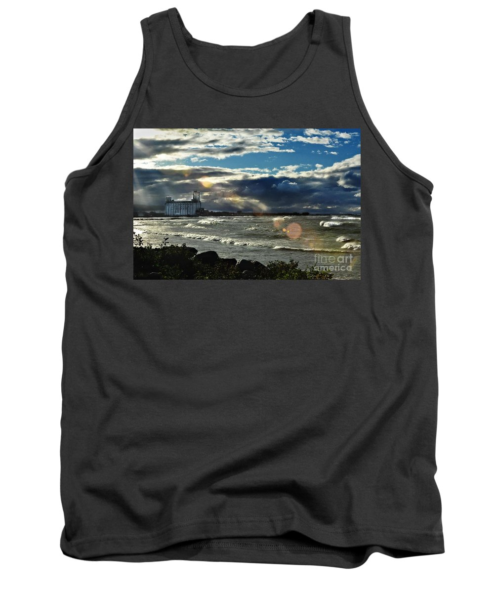 Collingwood Tank Top featuring the photograph Collingwood Terminal Building by Andrea Kollo