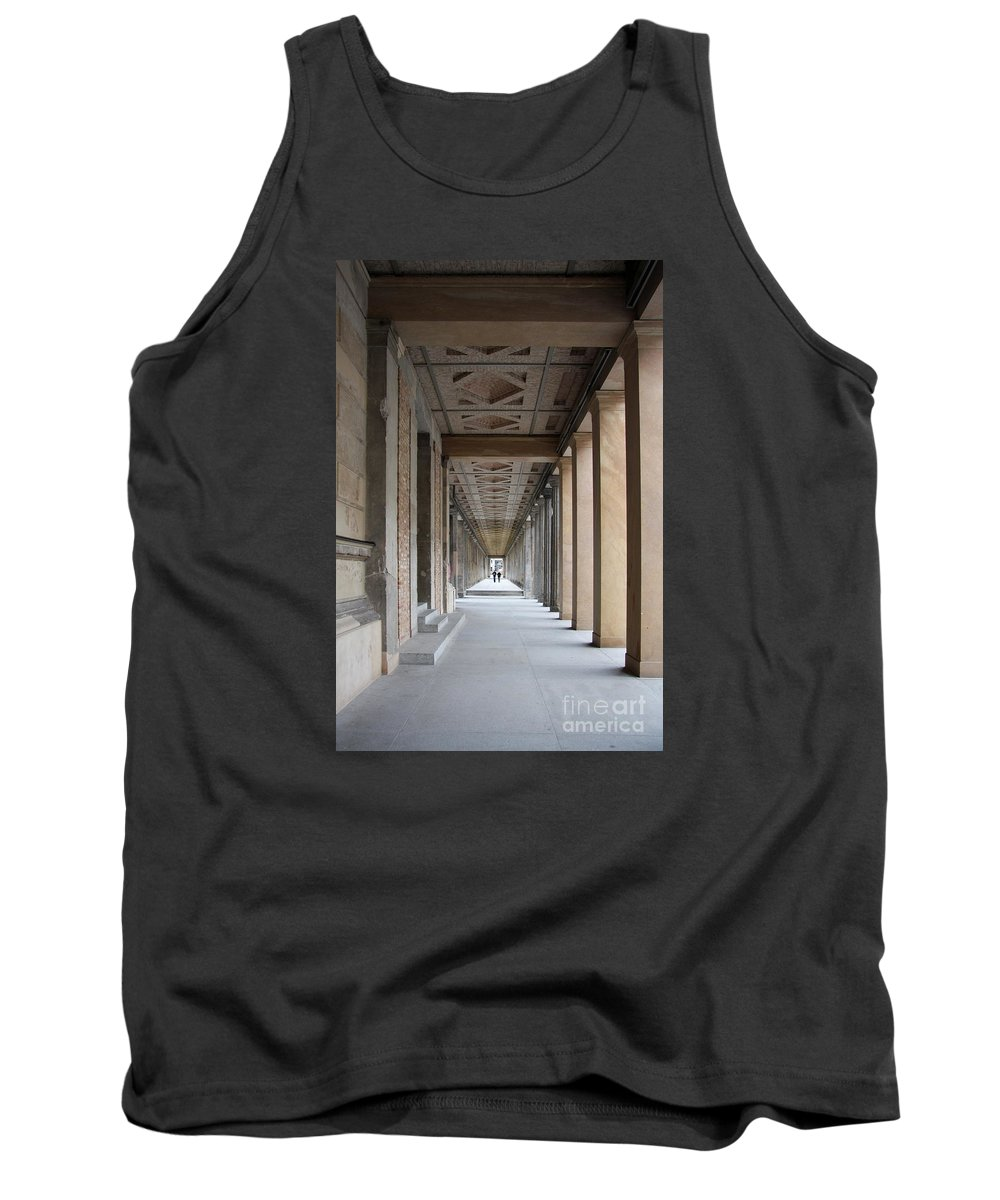 Colonnade Tank Top featuring the photograph Colonnade Neues Museum Berlin by Christiane Schulze Art And Photography