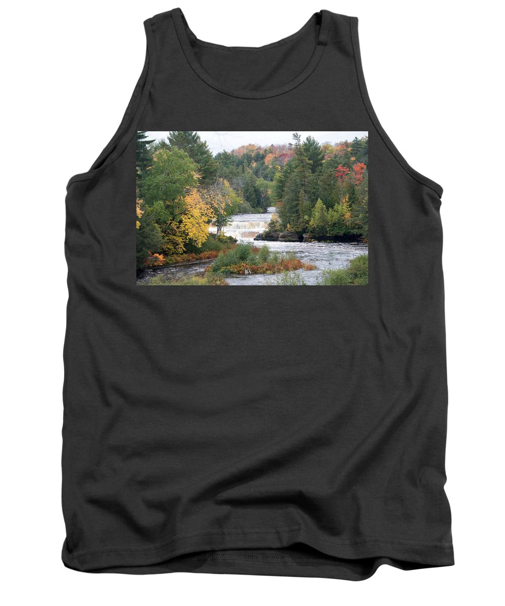 Water Tank Top featuring the photograph Color At The Falls by Linda Kerkau