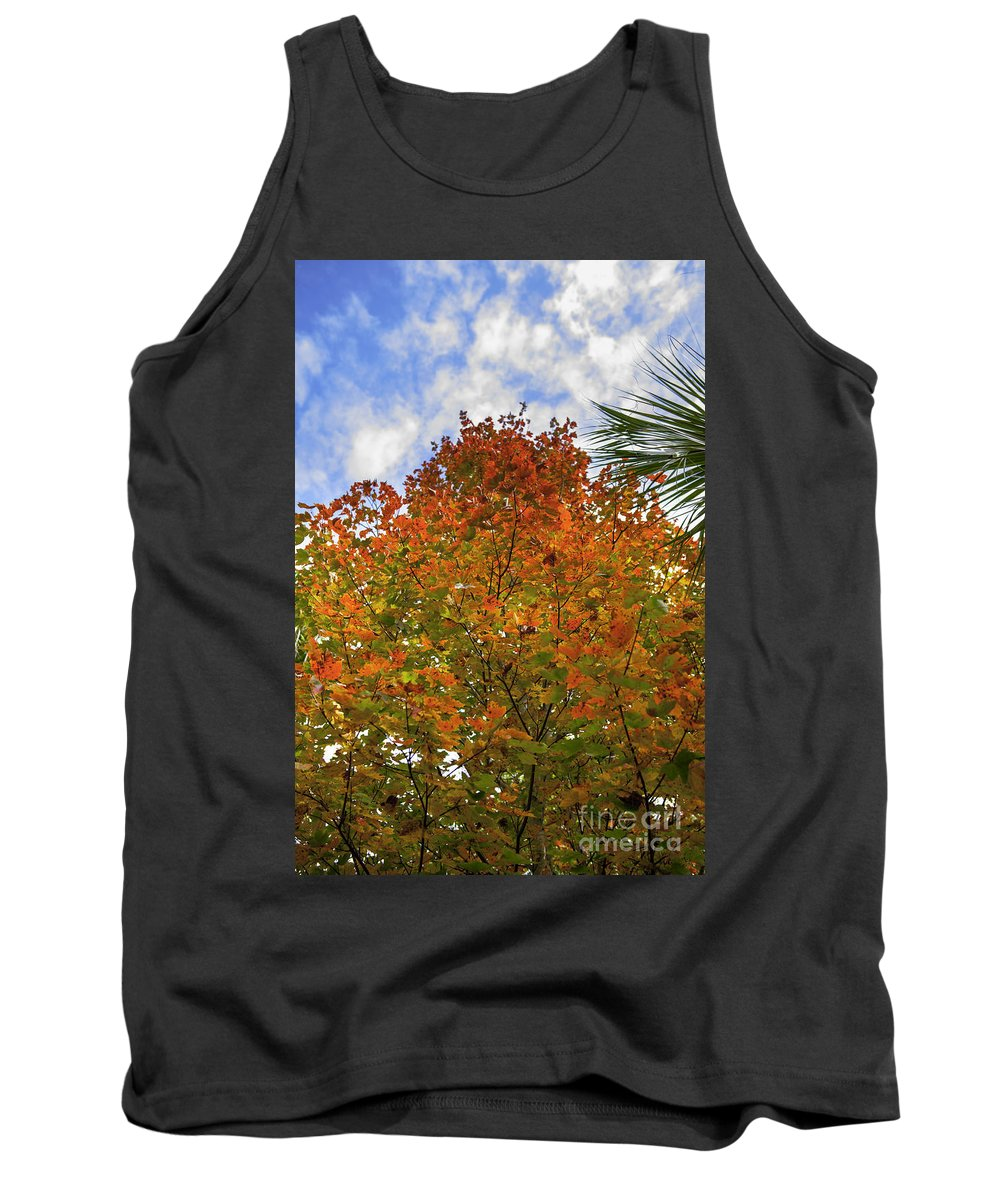 Maple Leaf Tank Top featuring the photograph Color To The Sky by Dale Powell