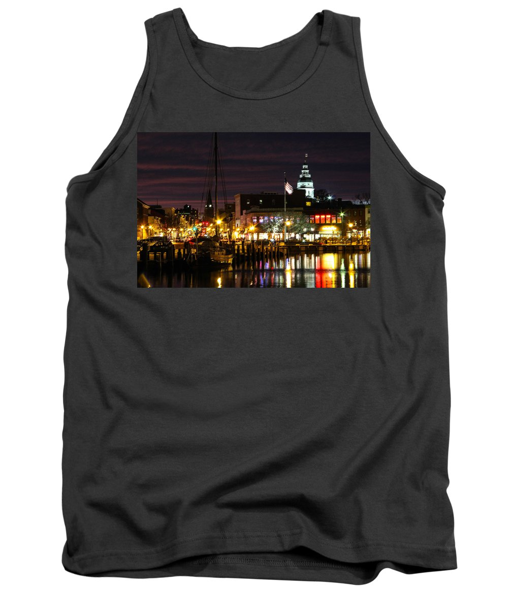 Annapolis Tank Top featuring the photograph Colorful Annapolis Evening by Jennifer Casey