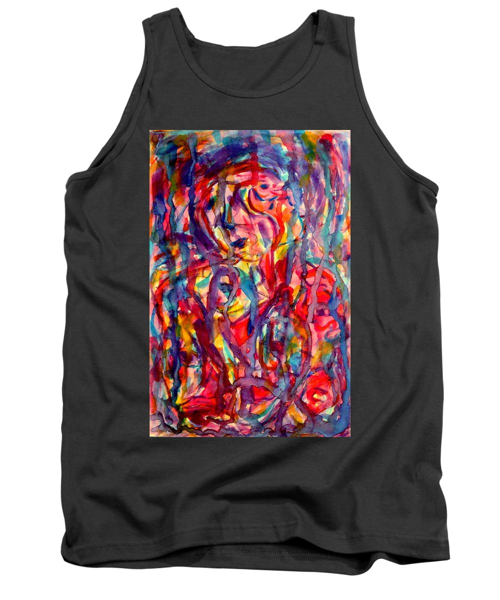 Expressionism Tank Top featuring the painting Colorful Expression-6 by Natalie Holland
