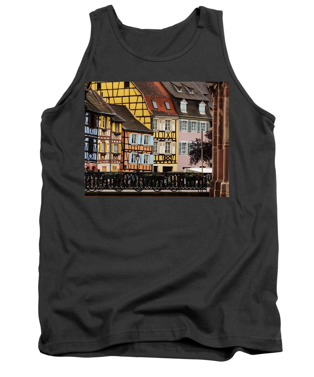 Colorful Homes Tank Top featuring the photograph Colorful Homes Of La Petite Venise In Colmar France by Greg Matchick