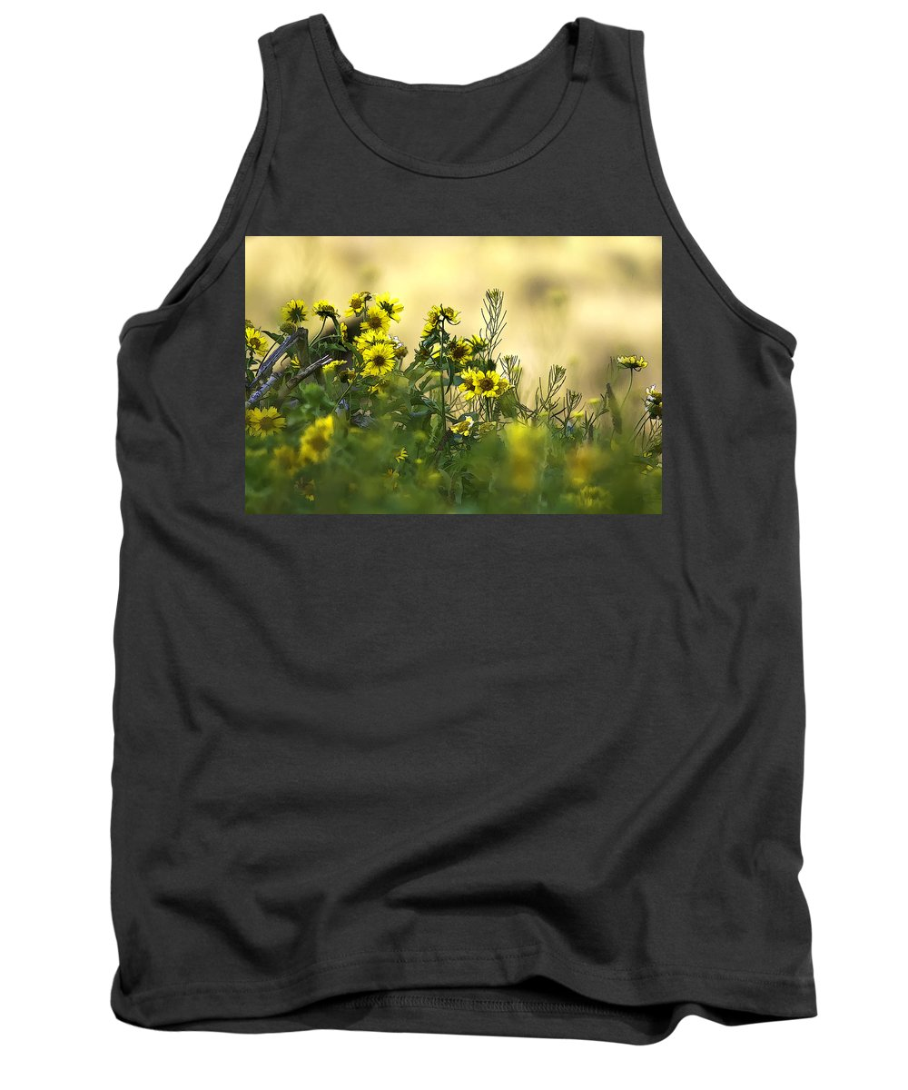 Common Brighteyes Tank Top featuring the photograph Common Brighteyes Natural Bouquet by Dan Sabin