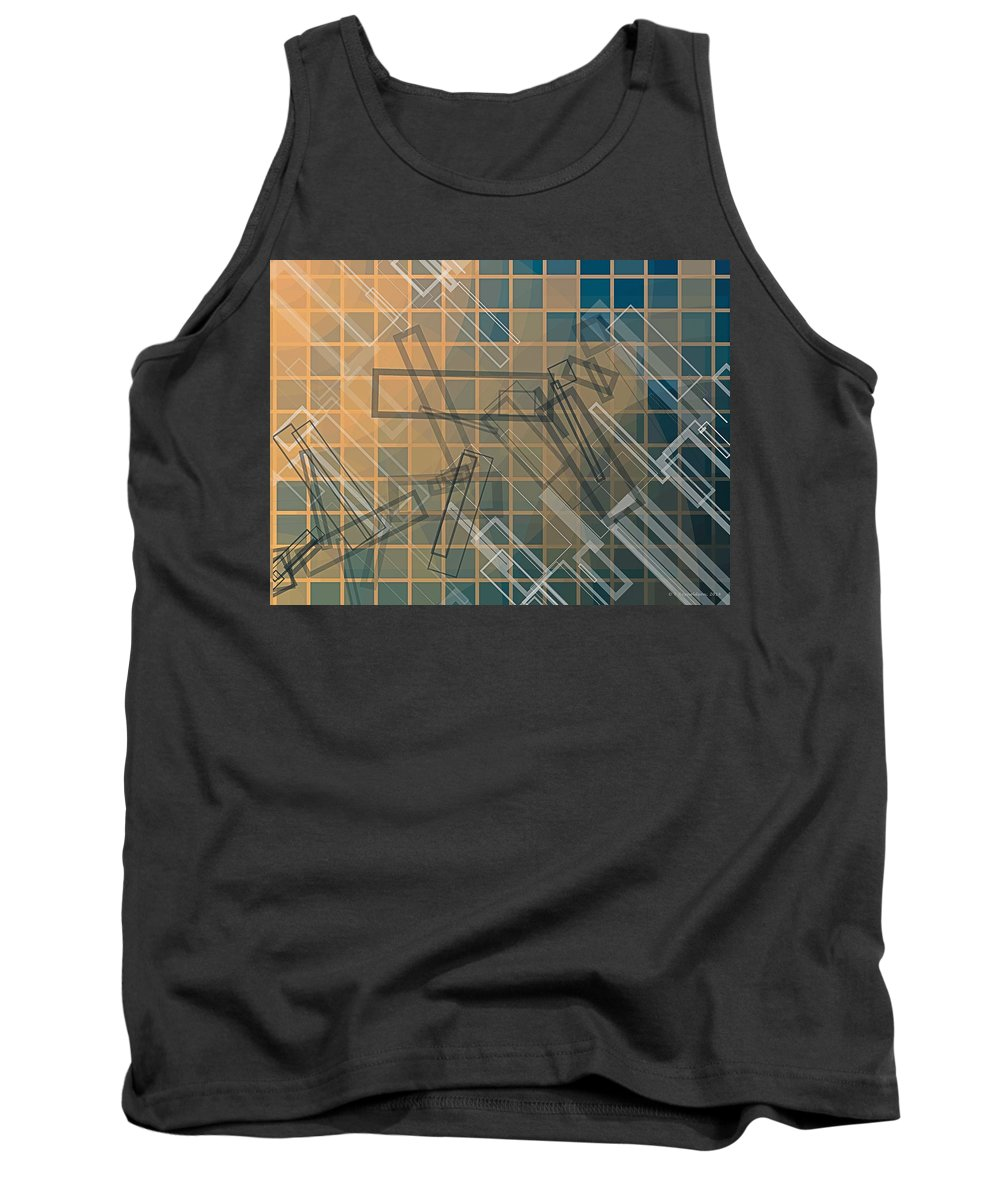 Tablet Tank Top featuring the digital art Composition 45 by Terry Reynoldson
