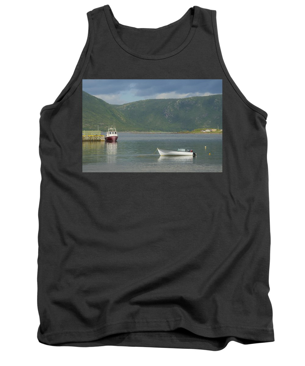 Conche Tank Top featuring the photograph Conche Harbor by David Stone