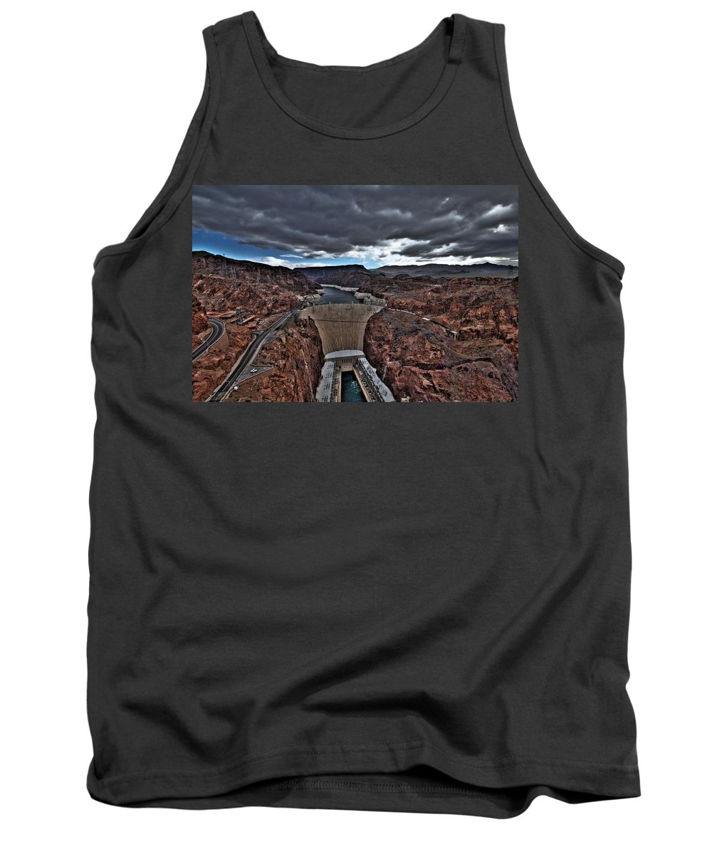 Boulder Tank Top featuring the photograph Concrete Canyon by Chance Chenoweth