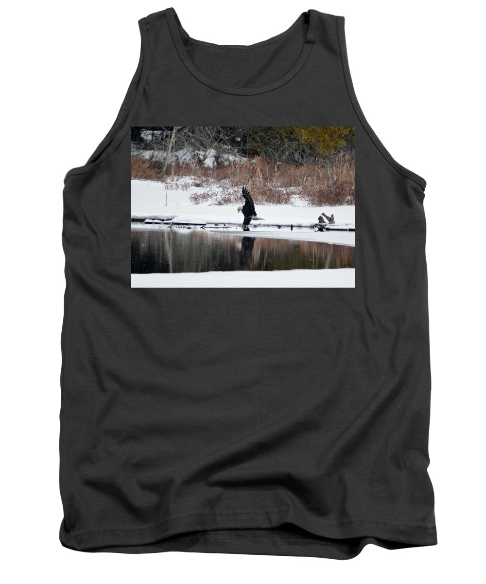 Bald Eagle Tank Top featuring the photograph Contact With The Earth by Thomas Phillips