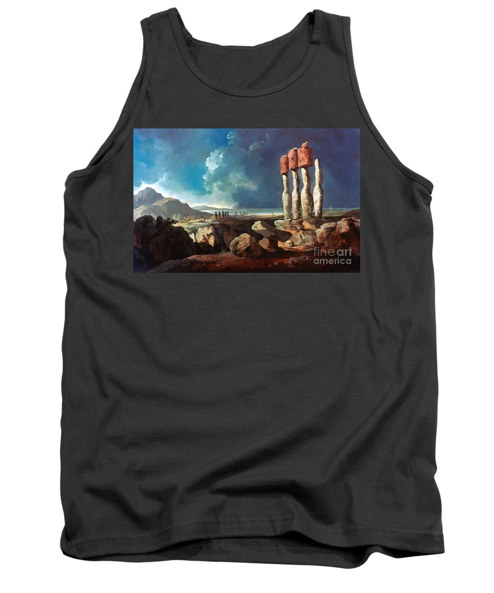 1774 Tank Top featuring the photograph Cook: Easter Island, 1774 by Granger