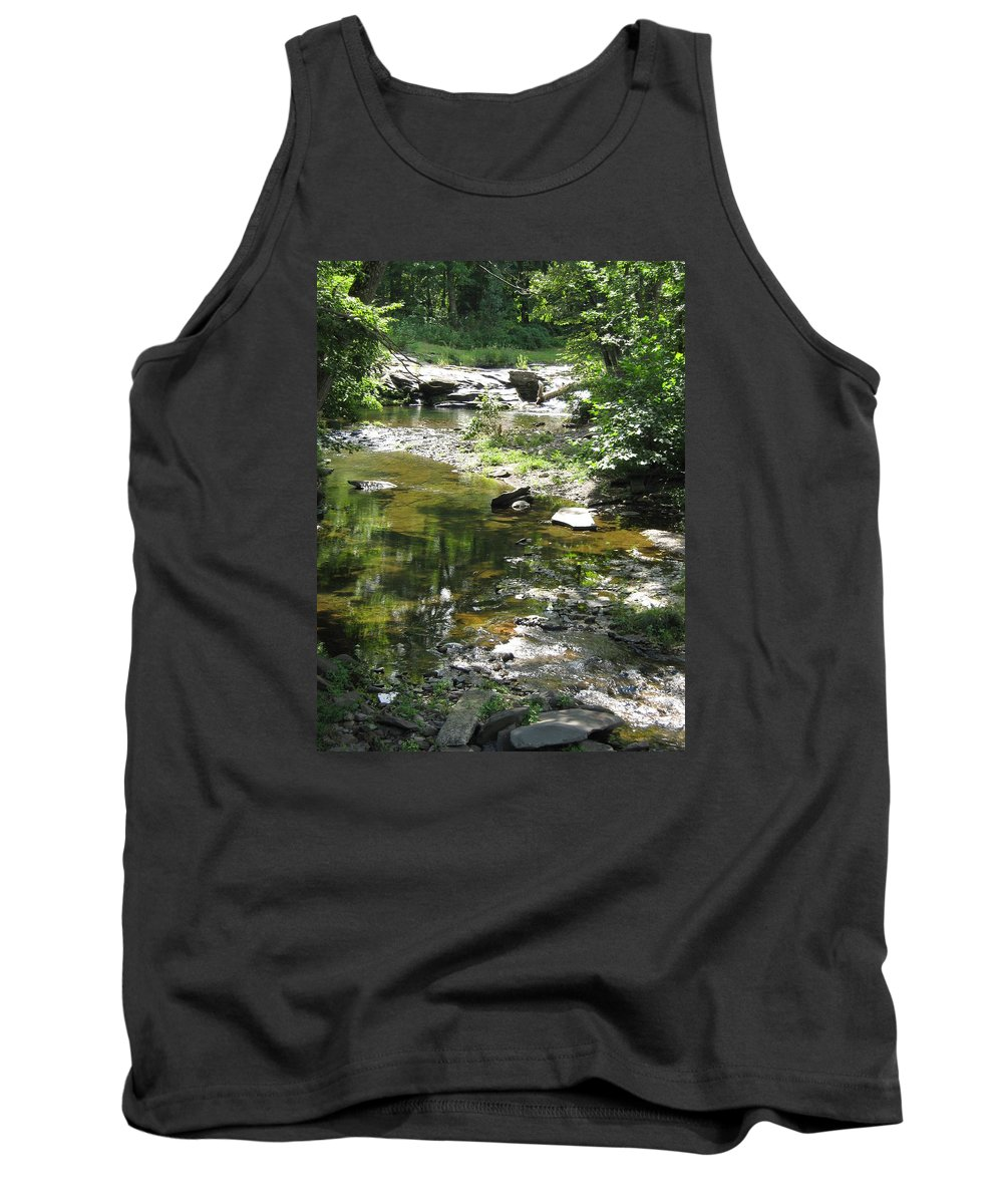 Creek Tank Top featuring the photograph Cool Waters by Ellen Levinson