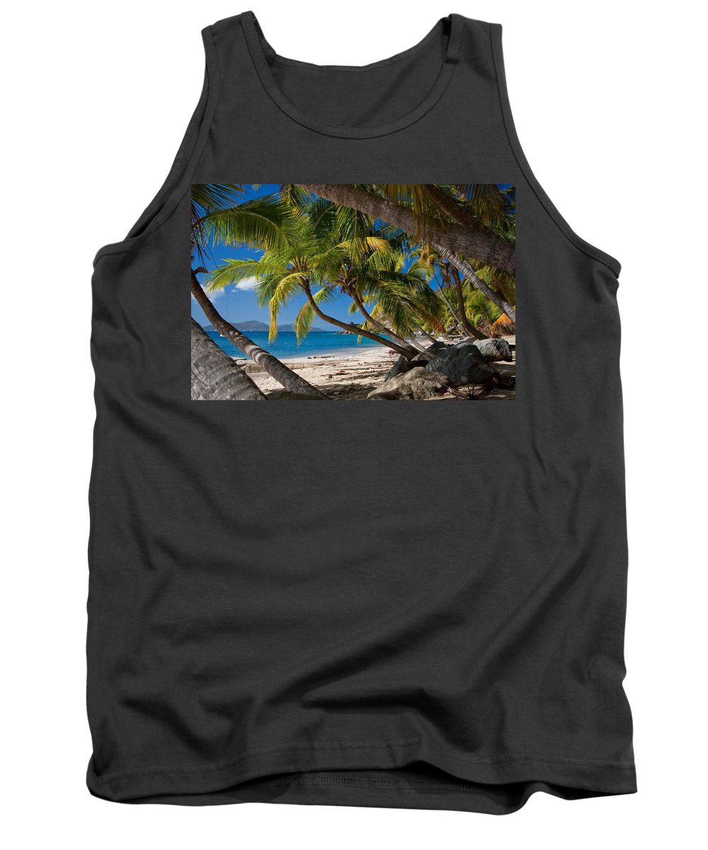 3scape Tank Top featuring the photograph Cooper Island by Adam Romanowicz
