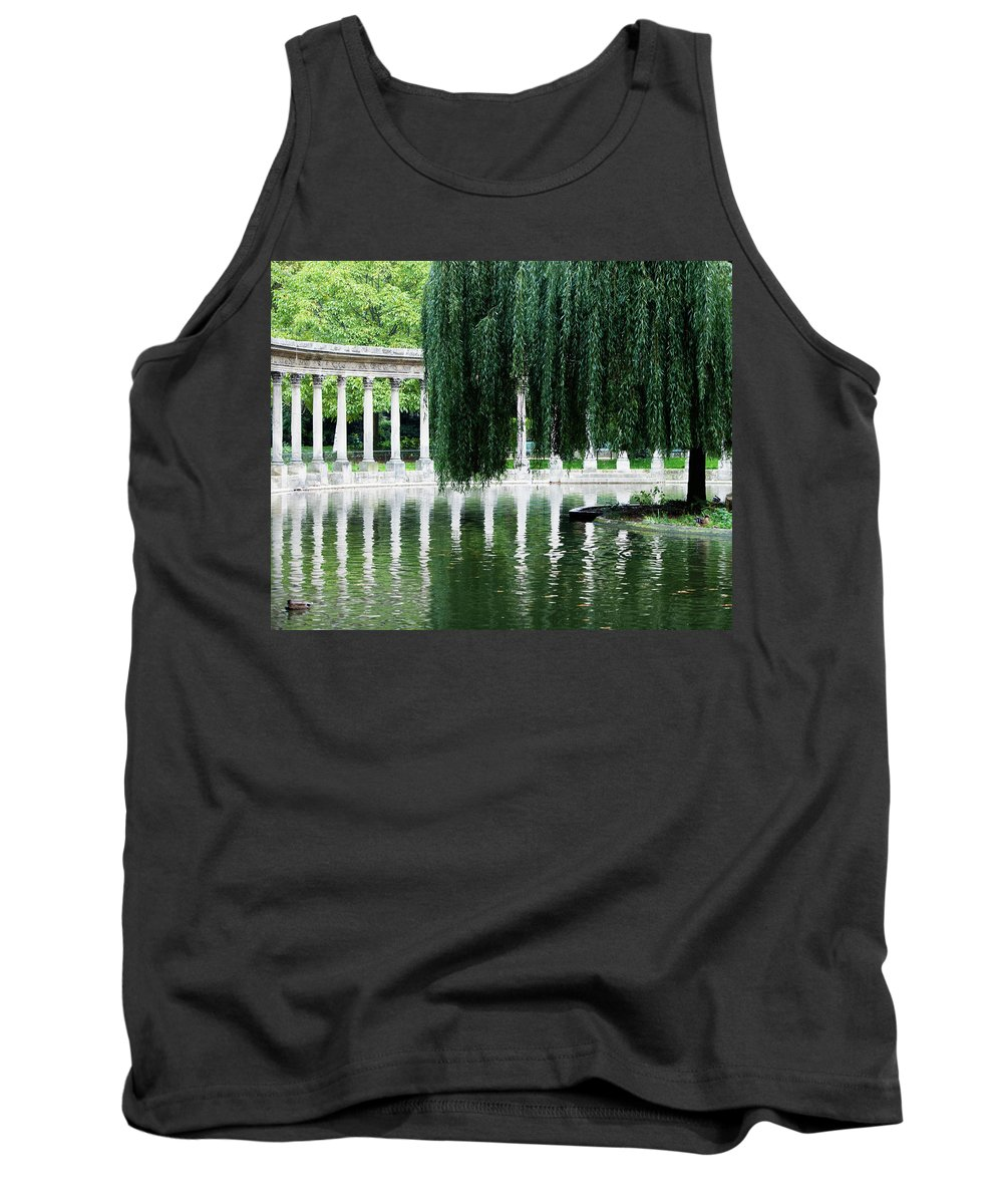 Animal Tank Top featuring the photograph Corinthian Colonnade And Pond by Ron Koeberer