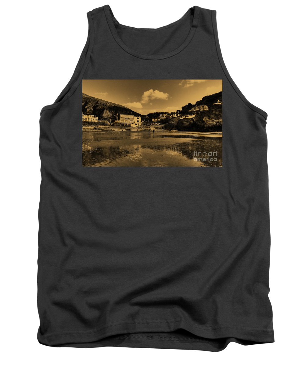 Trevaunance Tank Top featuring the photograph Cornish Copper by Rob Hawkins